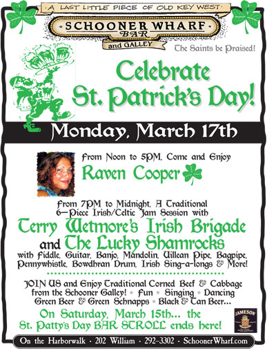 St Patrick's Day at the Schooner Wharf Bar
