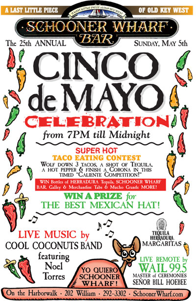 Schooner Wharf Cinco de Mayo Celebration 2019 Flyer