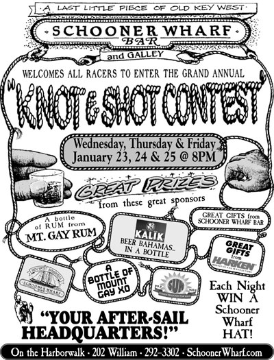 Schooner Wharf Knot & Shot Competition 2019 Flyer