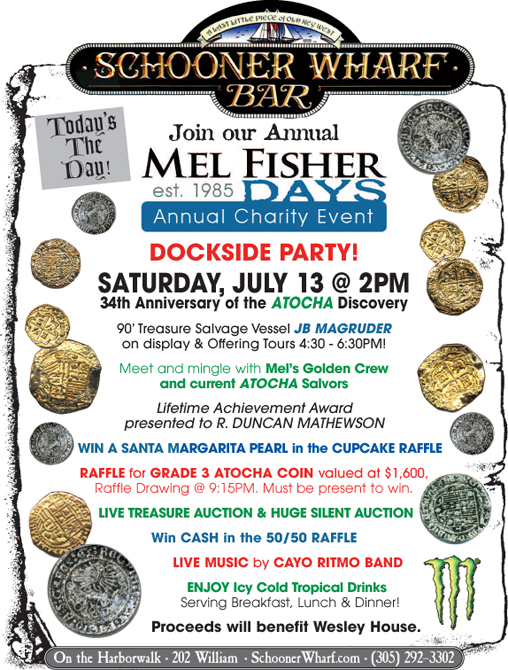 Mel Fisher Days at the Schooner Wharf 2019 flyer