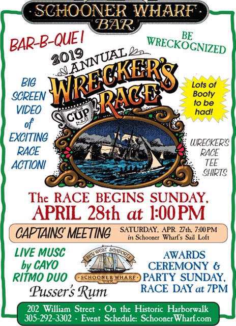Schooner Wharf Wreckers Cup Race April 2019 Race Flyer