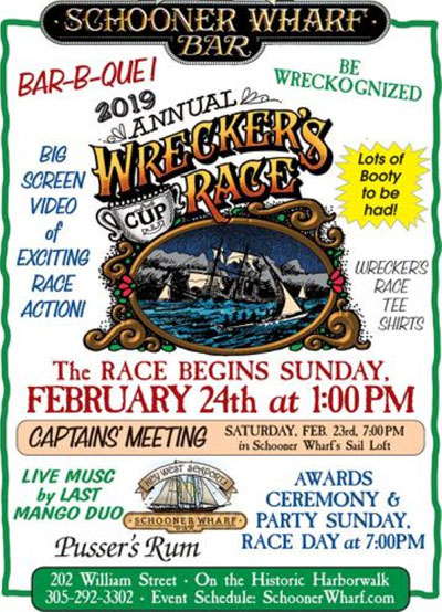 Schooner Wharf Wreckers Cup Race February Race 2019 Flyer