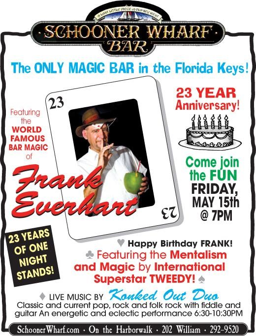 Schooner Wharf's Magician, Magic Frank 2019 flyer