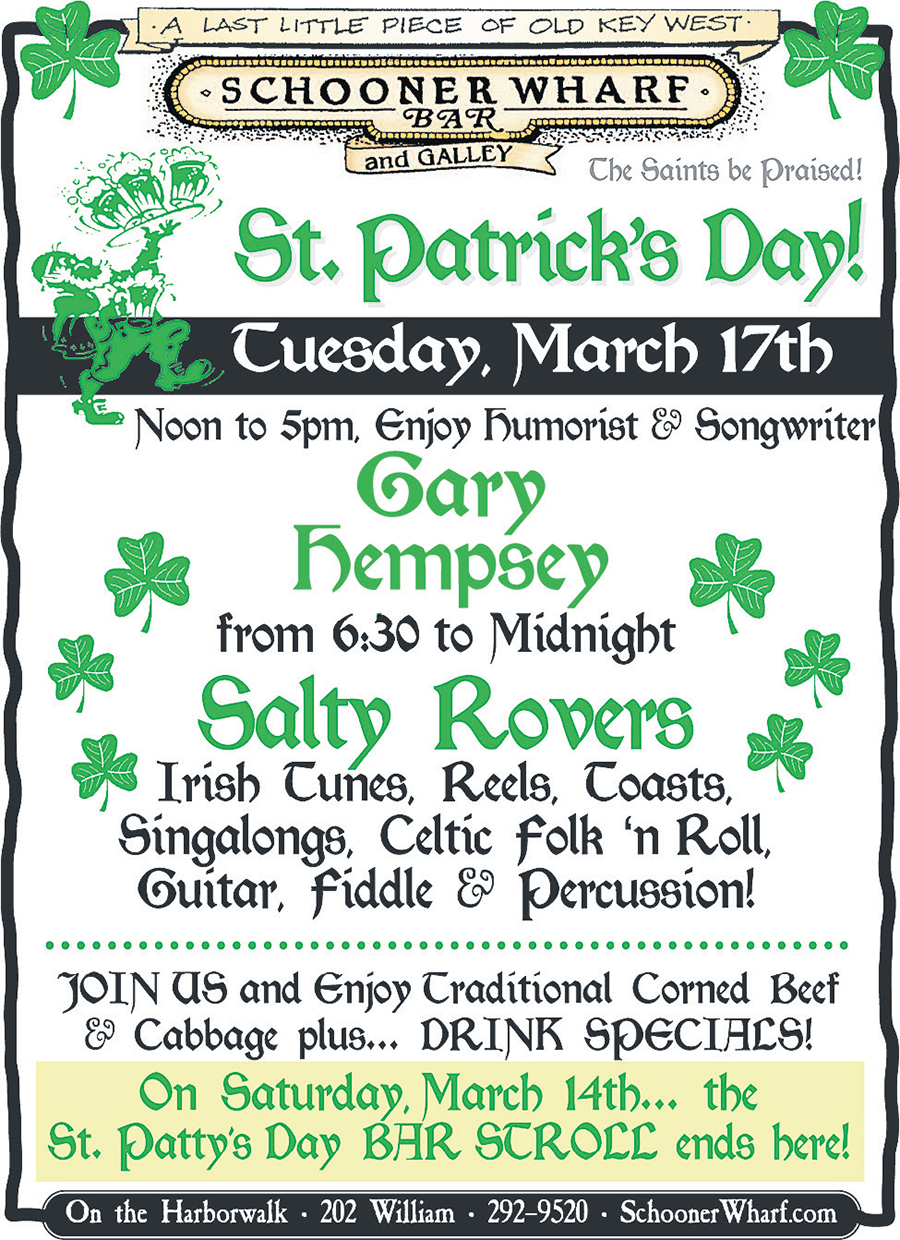 St Patrick's Day at the Schooner Wharf Bar 2020